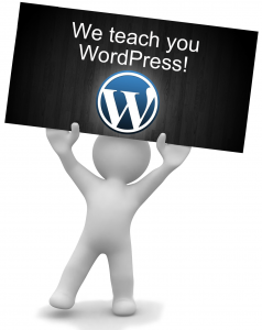 we teach wordpress