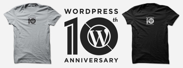 WordPress 10th Anniversary T-Shirt