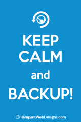 keep calm and backup